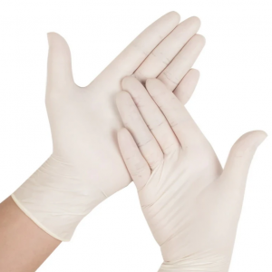 LATEX PROTECTIVE RUBBER GLOVES  – 100 GLOVES PER BOX